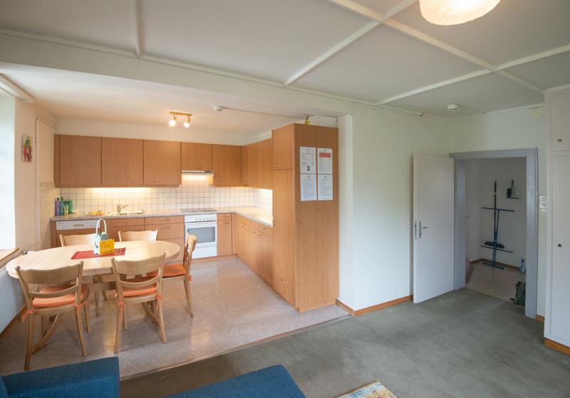 Berghof Hallau Ferienwohnung Wohnraum Küche