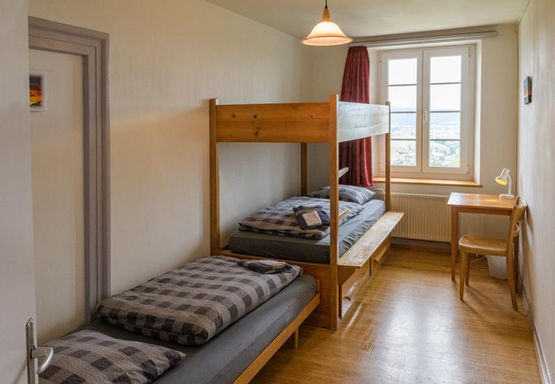 Berghof Hallau Ferienwohnung Schlafzimmer Kajütenbett