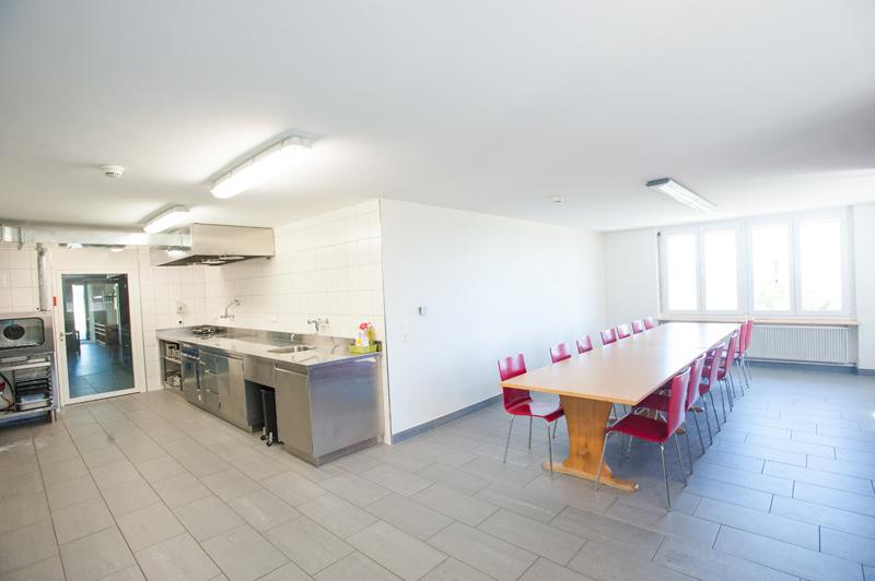 Berghof Hallau Gruppenhaus Küche Essraum