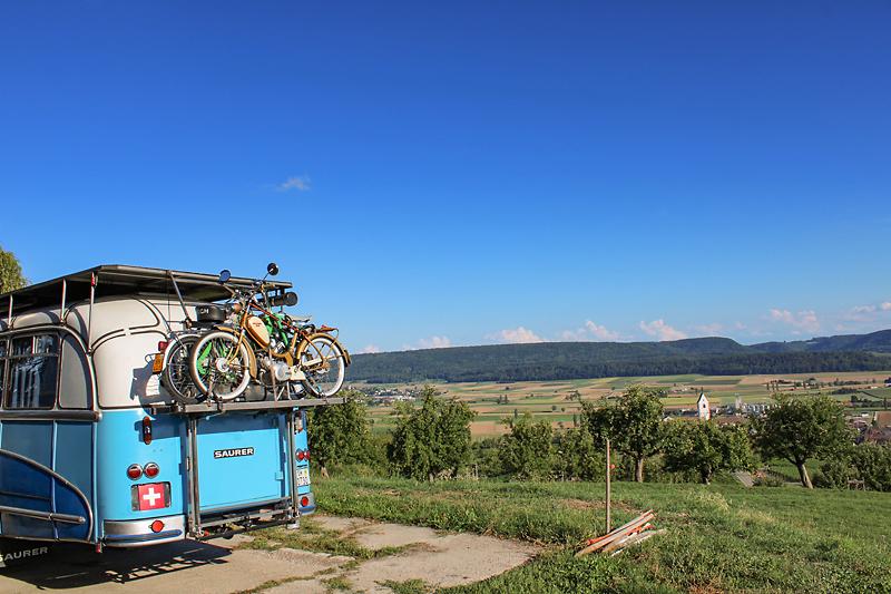 Berghof Hallau Ferienwohnung Aussicht Bus