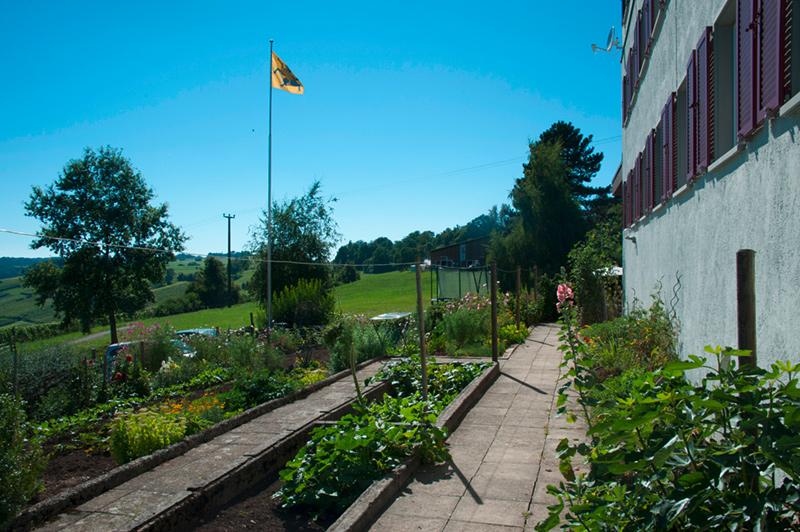 Berghof Hallau Bild vom Garten