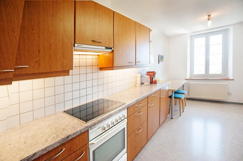 Berghof Hallau Ferienwohnung Küchenraum