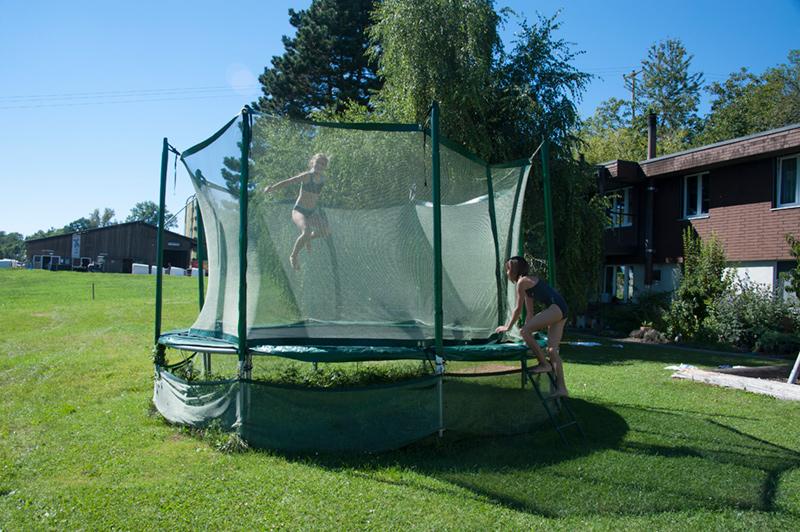 Berghof Hallau Ferienwohnung Garten Trampolin