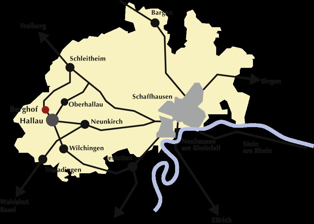Berghof Hallau Karte
